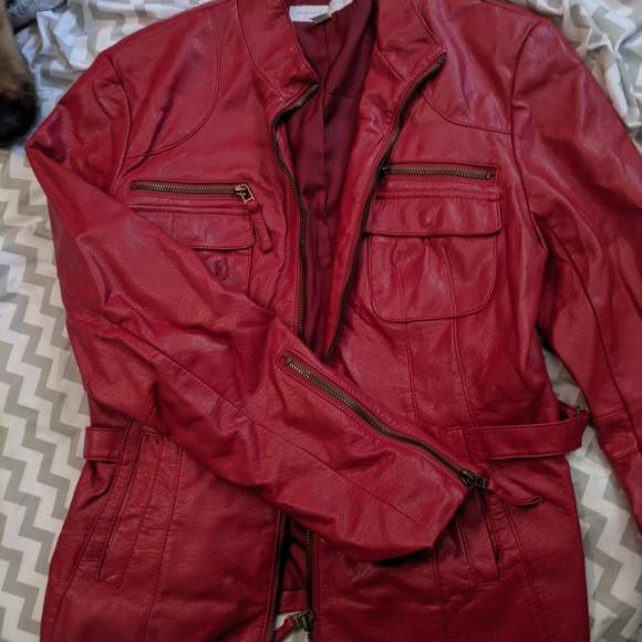 Killer Red Leather Jacket NY&Co